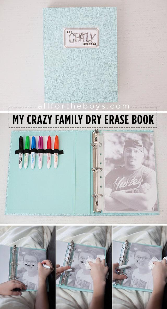 My Crazy Family Dry Erase Book