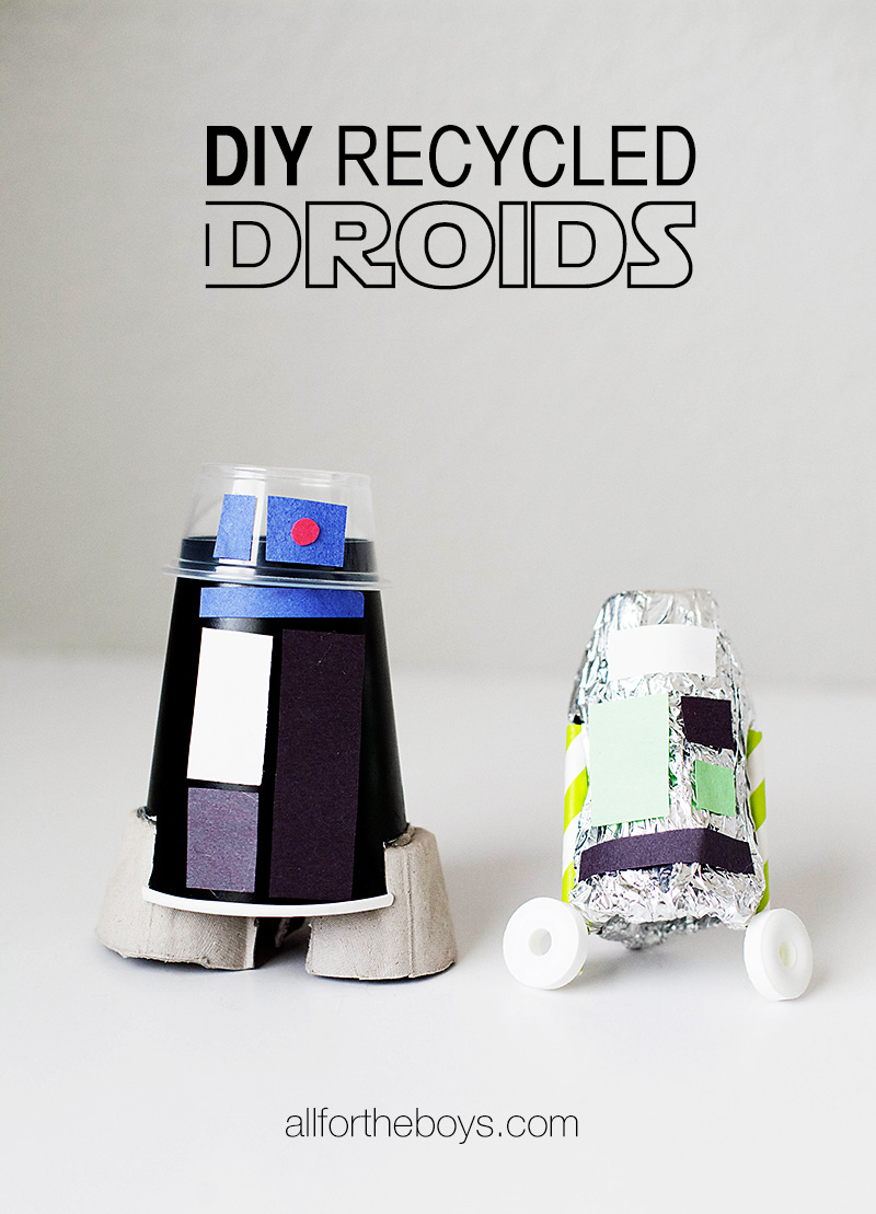 Diy recycled droid craft all for the boys for Diy crafts for guys