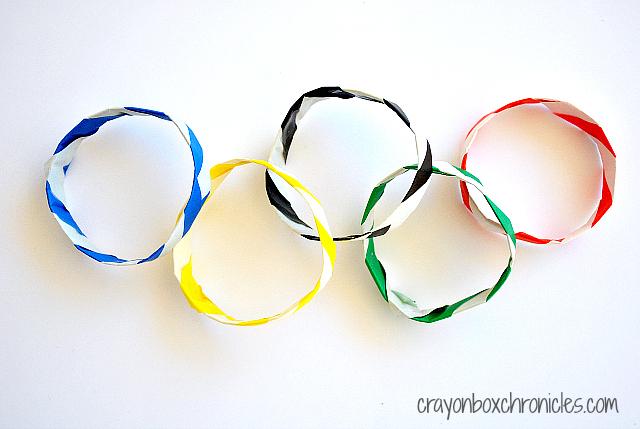 DIY Олимпийский Оригами Браслеты из Crayon Box Хроники на Все для блога мальчиков